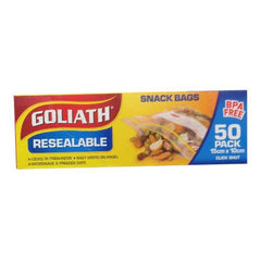 Goliath Resealable Snack Bags 50pack