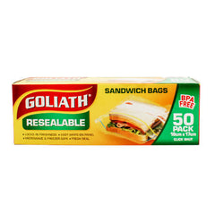 Goliath Sandwich Bag Resealable 50pack