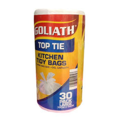 Goliath Top Tie Kitchen Tidy Bags 30pack Large