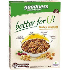 Goodness Superfoods Better For You Barley Clusters  400g