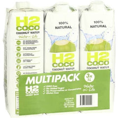 H2coco Coconut Water  3x1L bottles
