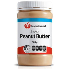 Homebrand Peanut Butter Smooth 500g