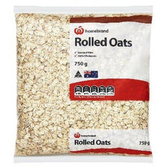 Homebrand Rolled Traditional Oats 750g