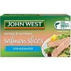 John West Salmon Slices In Springwater 125g