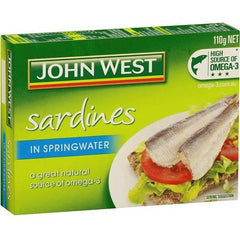 John West Sardines In Spring Water  110g