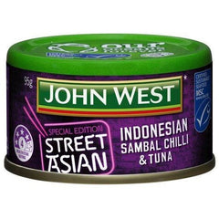 John West Street Asian Tuna Indonesian Sambal Chilli  95g