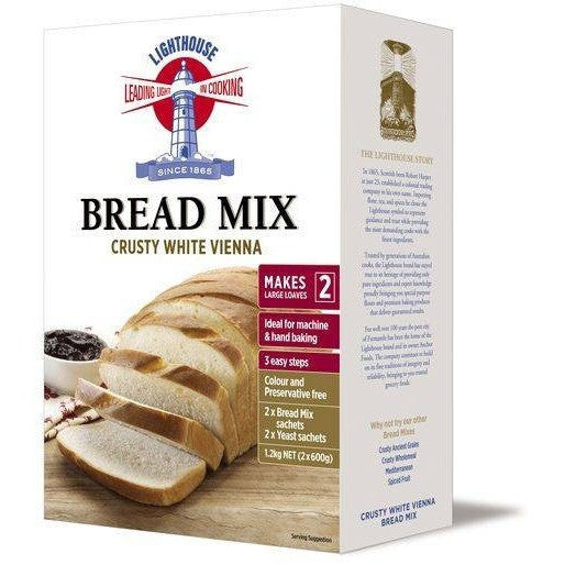Lighthouse Crusty White Vienna Bread Mix 1.2kg