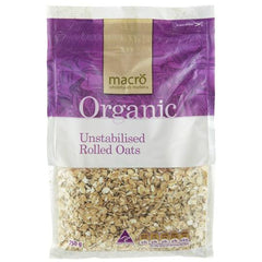 Macro Organic Unstabilised Rolled Oats 750g