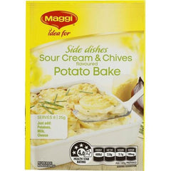 Maggi Sour Cream & Chives Potato Bak Vegetable Side Recipe Base 25g