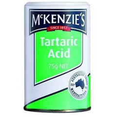 Mckenzies Baking Aids Acid Tartaric  75g