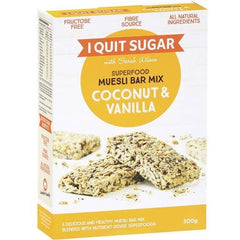 Nature's Own I Quit Sugar Superfood Muesli Bar Mix Coconut & Vanilla  300g
