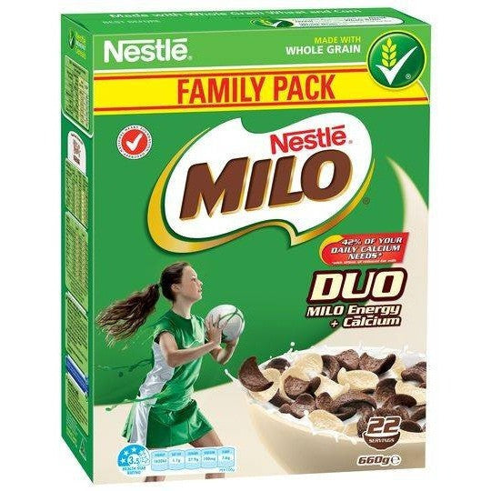 Nestle Milo Duo Cereal 660g