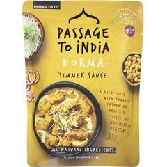 Passage To India Simmer Sauce Curry Korma  375g