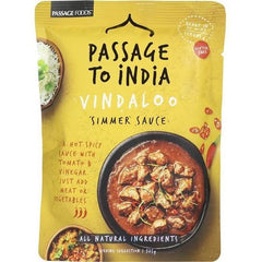Passage To India Simmer Sauce Vindaloo Hot  375g