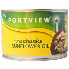 Portview Tuna Chunks in Sunflower Oil 425g