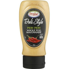 Praise Deli Style Whole Egg Mayonnaise Peri Peri  250ml