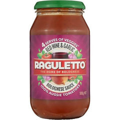 Raguletto Pasta Sauce Red Wine Garlic  500g