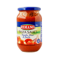 Remano Pasta Sauce Tomato Onion & Garlic 500g