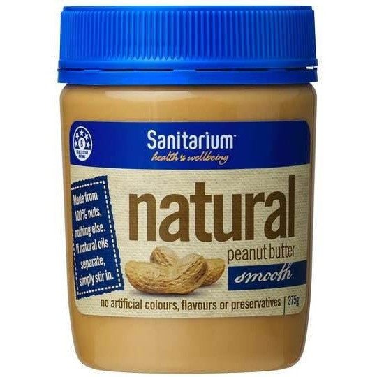 Sanitarium Peanut Butter Natural Smooth  375g
