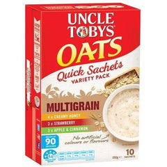 Uncle Tobys Multigrain Quick Oats Variety Sachet  10x350g