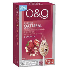 Uncle Tobys O&g Oatmeal Cranberry Strawberry & Almonds  320g 8 sachets