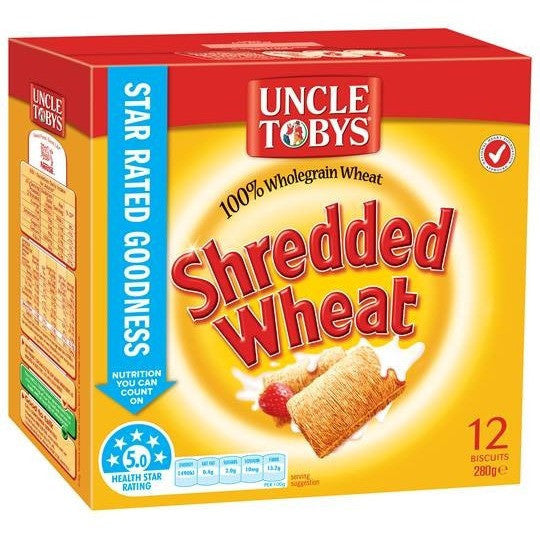 Uncle Tobys Shredded Wheat  280g