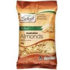 Woolworths Select Almonds Flaked 120g