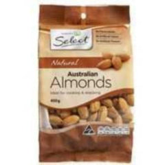 Woolworths Select Almonds Natural 450g