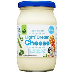 Woolworths Select Light Cream Cheese Spread 245g