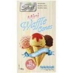 Woolworths Select Mini Waffle Ice Cream Cone 170g