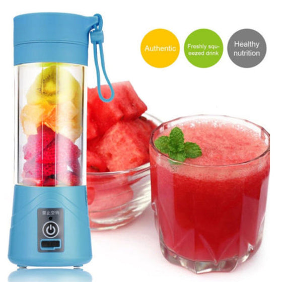 Mini Portable USB Rechargeable Electric Smoothie and Juicer