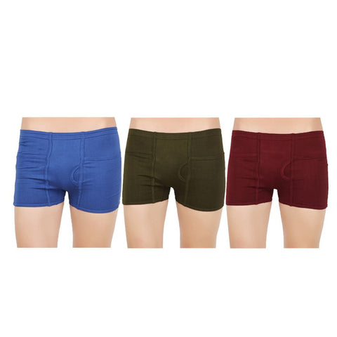 Mens Pocket Trunks (Pack of 3)