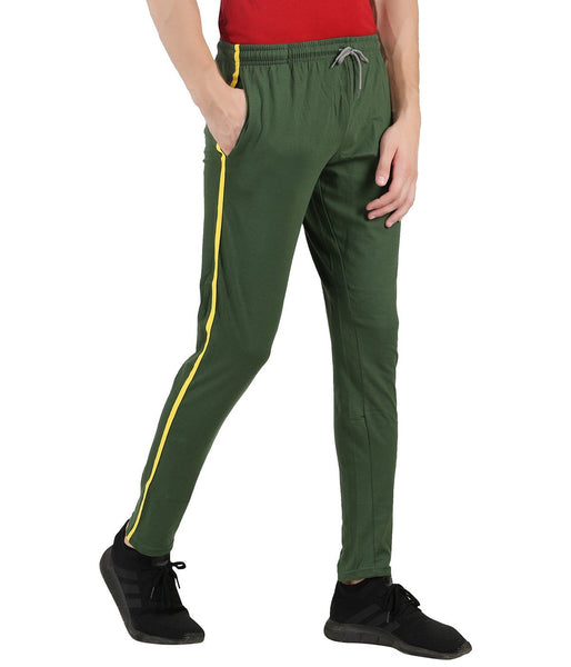 Mens Green Track Pant (Taper fit) - TirupurFactorySale.com