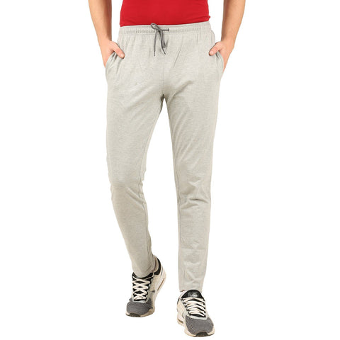 Grey Melange Track Pant (Slim fit)