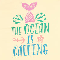 Womens Ocean is calling graphic tee - TirupurFactorySale.com