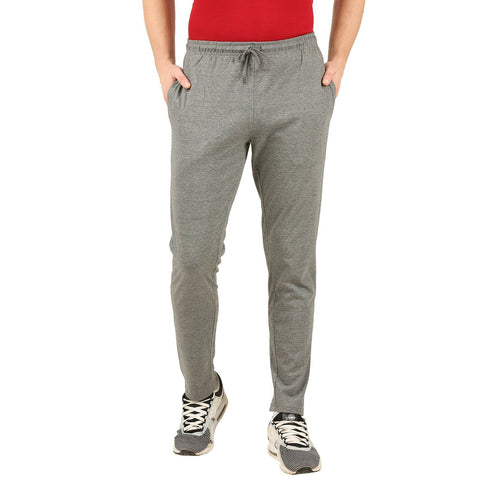 Charcoal Melange Track Pant (Slim fit)