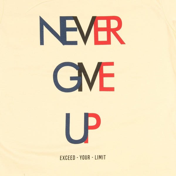 Womens Never Give Up Tee - TirupurFactorySale.com
