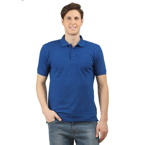 Royal Blue Solid Polo T-shirt