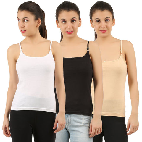 Womens Cotton Camisoles (Pack of 3)