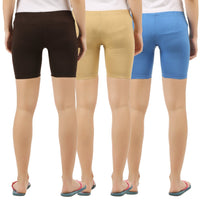 Womens Shorties (Pack of 3) - TirupurFactorySale.com