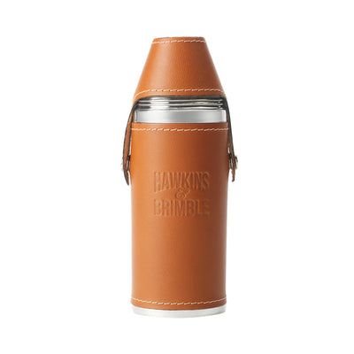 Tan Leather 8oz Hunter Flask