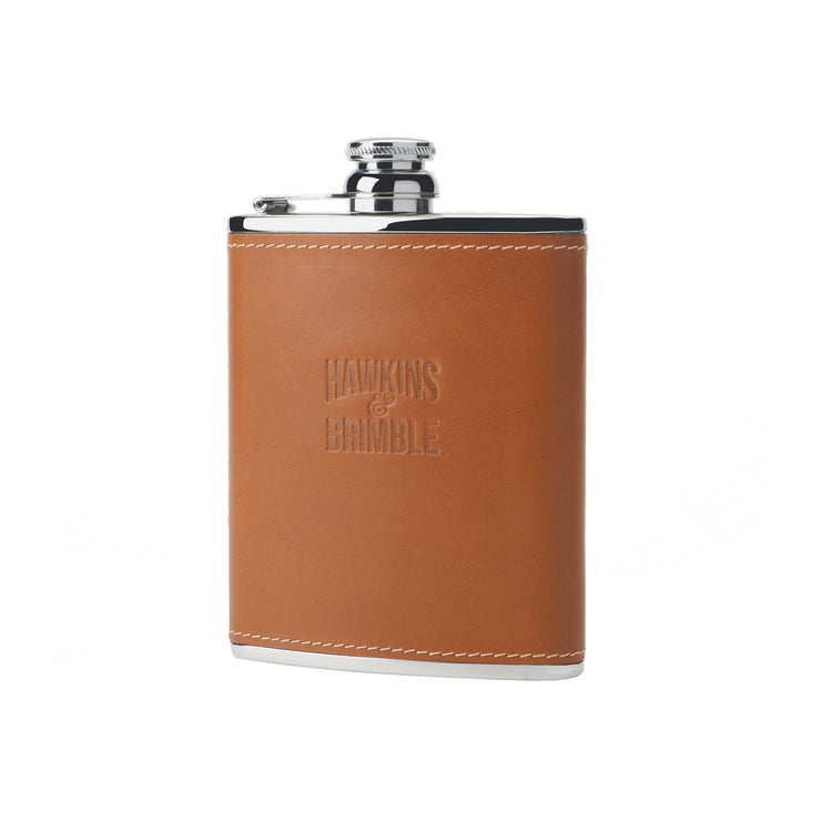 Tan Leather 6oz Hip Flask