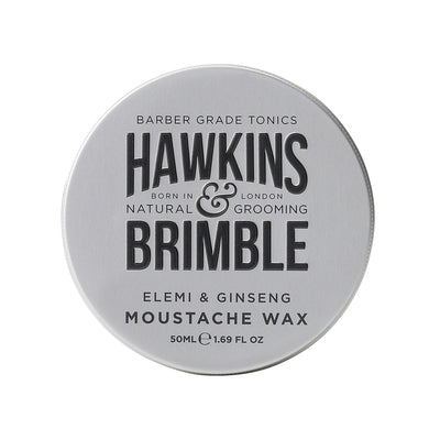 Moustache Wax 50ml - Hawkins & Brimble EU