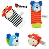 Baby Rattle Toy Socks - Great Quality 4Pcs Baby Rattle Toy Socks-Baby Essentials