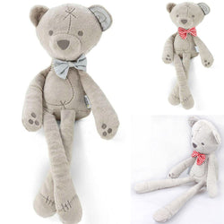 Beautiful Plush Comfort Doll  Toy Smooth Bow Bear -Makes An Awsume Gift