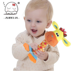 Colourful Infant Baby Rattles - Fantastic Plush Infant Baby & Kids Rattles With BB Sounder Ringbell Teether Pelucia