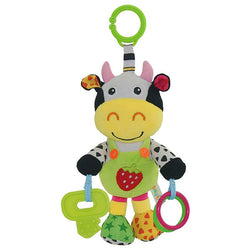 Plush Animal Stroller Music Hanging Toy Doll -Infant Rattles