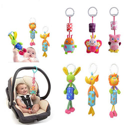 Plush Kawii Cartoon Newborn Hanging Baby Rattle Ring - (FREE + SHIPPING ONLY) Plush Kawii Baby Toy Crib Stroller Toy With Rattle Ring