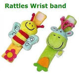 Plush Wrist Rattles - (FREE + SHIPPING ONLY):Lovely Plush Wrist Rattles Baby Toys 0-12 Months