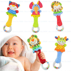 Plush Baby Rattle Toys Animal Hand Bells